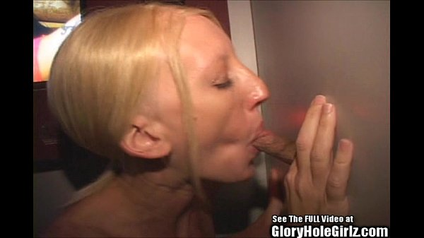 Thin blonde Carla gives it up to strangers in a gloryhole