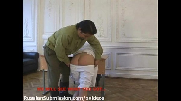 Russian blonde babe must stubmit to the wild orders of a horny officer