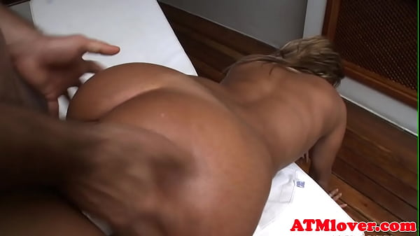 Assfetish babe anally banged on all fours
