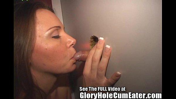 Wild Sperm Swallowing Slut at the Glory Hole