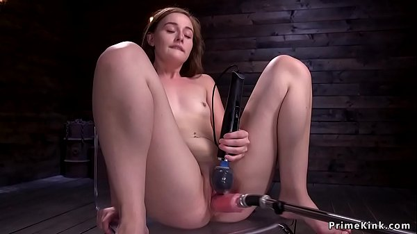 Solo dark-haired in doggy bangs machine