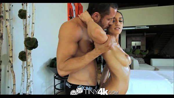 Tiny4K Petite exotic girl massaged and fucked by big dick