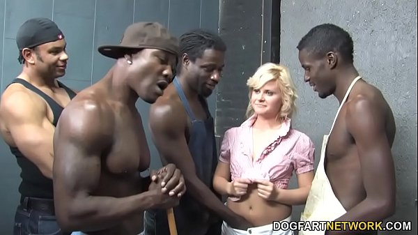 Kelly Surfer Is Getting Gangbanged By 4 Huge Black Dicks