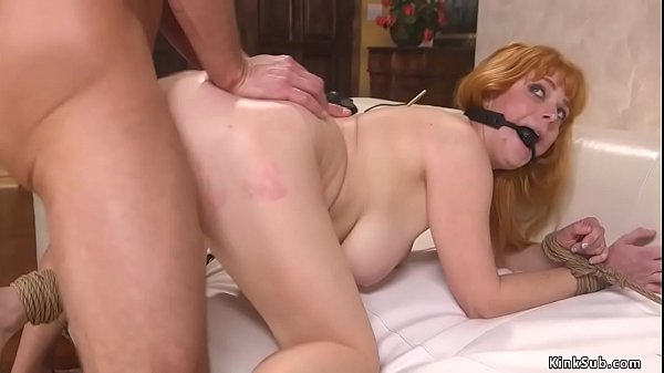 Natural wife anal fucked in bondage Thumb