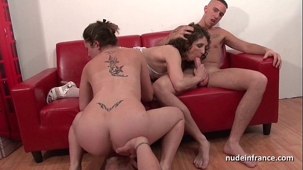 Casting squirt french mature ass fucked in four...
