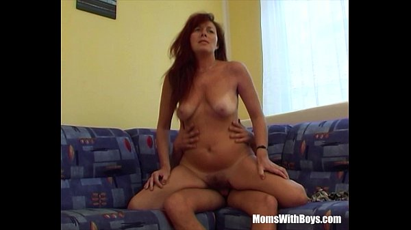 Fucking My Sexy Redhead Stepmom In Livingroom couch Thumb