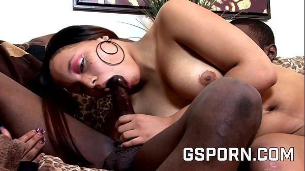 Hot natural ebony fucked by big black dick