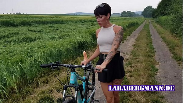 Premiere! Bicycle fucked in public horny