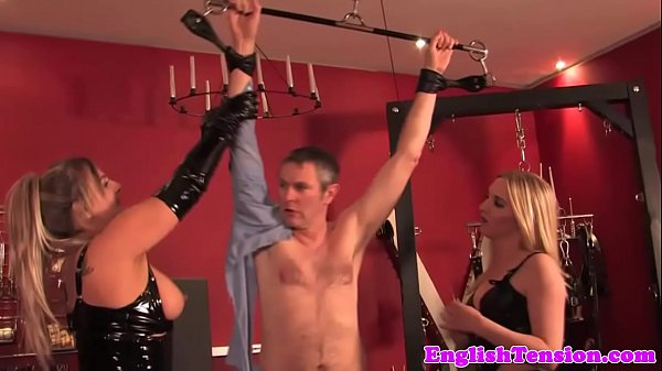 BDSM fetish milfs dominate some weird dude