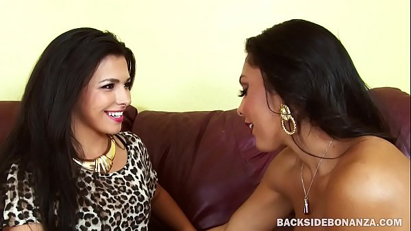 BACKSIDE Big Titty MILF Latina Strap Attack
