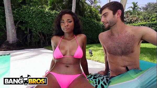 BANGBROS - Black Teen College Girl Peyton Sweet Interracial Fuck Sesh
