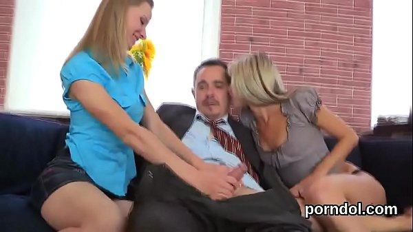 Innocent schoolgirl is teased and reamed by her elder teacher Thumb