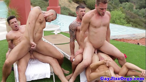 Hunky athletic gays fuck ass in the sun