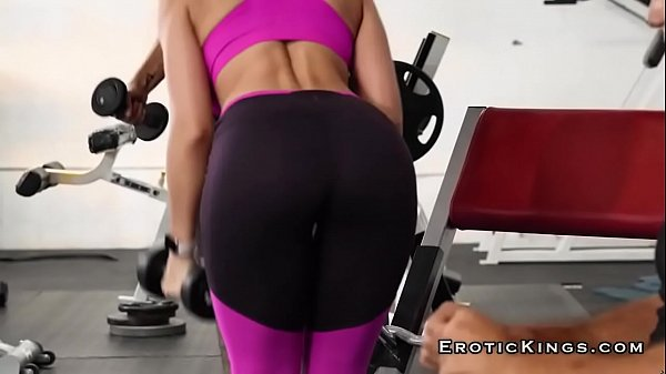 Busty milf rachel starr riding big cock at the gym