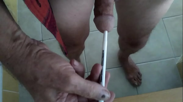 Grandpa finds another use for a pen