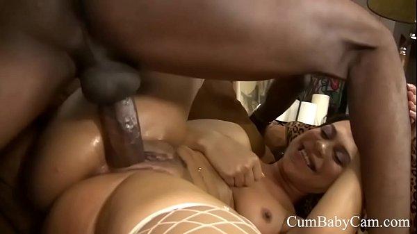 Ebony Creampie - CumBabyCam.com