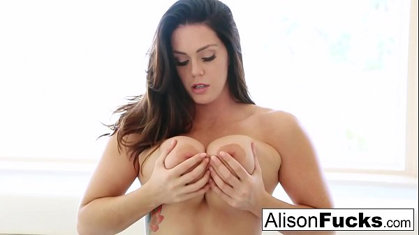 Alison Tyler uses her long legs to tease you