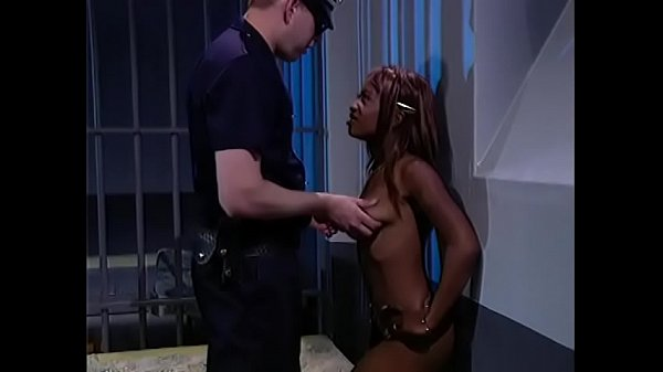 Busty prisoner want to please this good looking police man to let her go