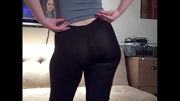 See Through Black Yoga Pants Leggings PAWG Big Ass