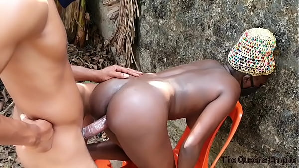 Tall black bitch with nice boobs fucked by a li...