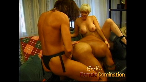 Two lusty playgirls suck and ride on a massive ...