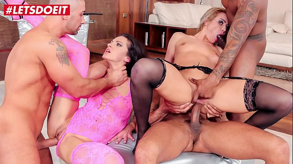 LETSDOEIT - Rough Anal Gang Bang With Two Hot S...