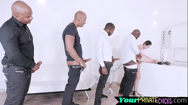 Young euro DP fucked and gangbanged