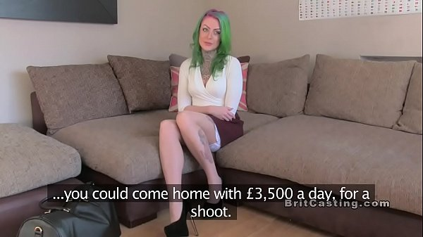 Green haired alt amateur bangs in casting