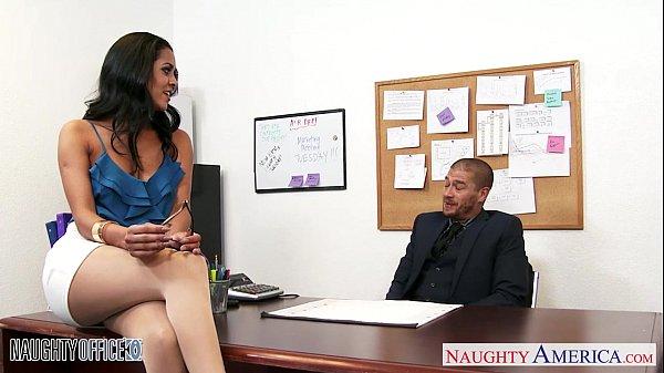 Image Busty brunette Abby Lee Brazil fuck in office