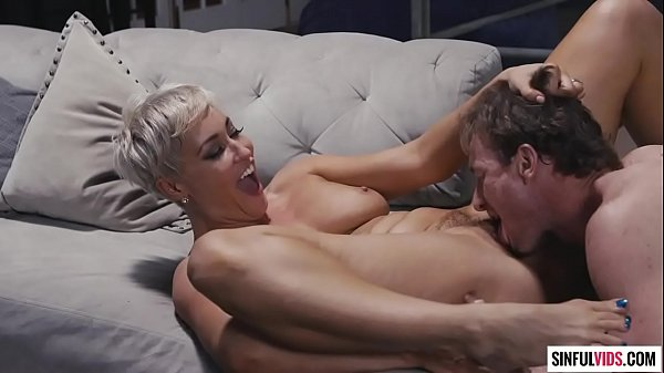 Short haired Ryan Keely screaming with pleasure while cheating her husband with Ryan Mclane
