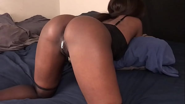 Black Teen Gets Her Pussy Fucked From Behind