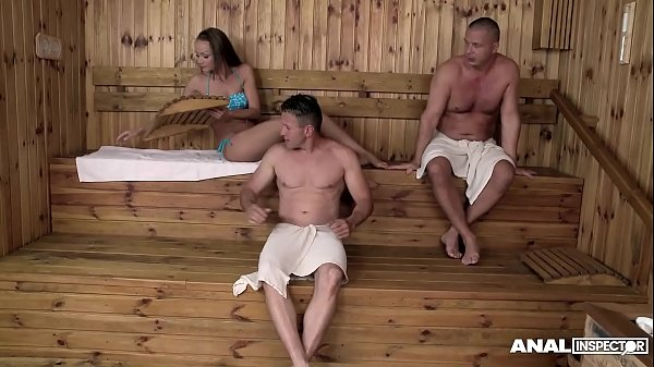 Anal threesome in the Sauna for Sophie Lynx & Lina Napoli thumbnail