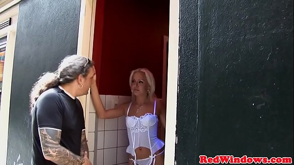 Blonde dutch hooker doggystyle before jerking