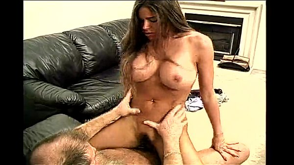 Stevie -brunette with huge tits- fucks an older man