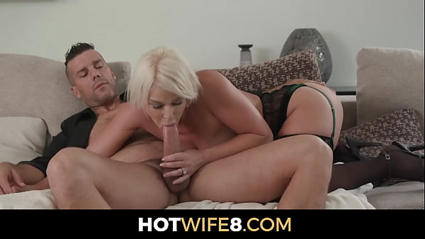 Married Milf Fucks A Dude While Her Husband Lis...
