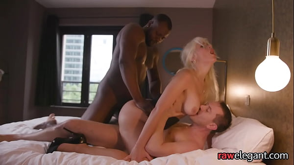 Busty milf spitroasted and pounded