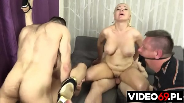 Polish porn - A bound husband watches his desperate wife fuck