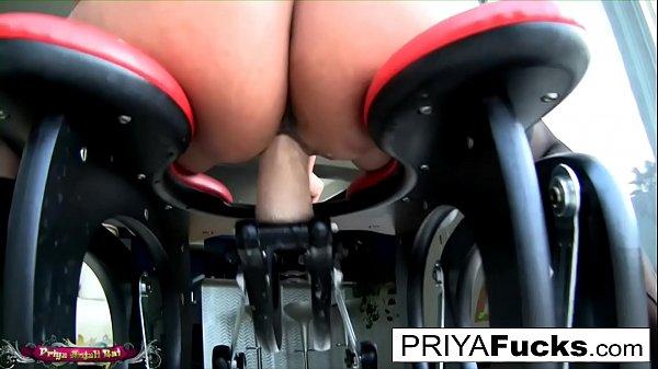 Rocking chair dildo action starring super hot Indian MILF Priya Rai