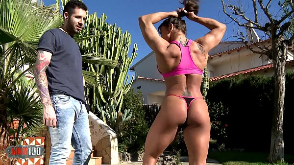 Strength demo by Karyn the muscular milf