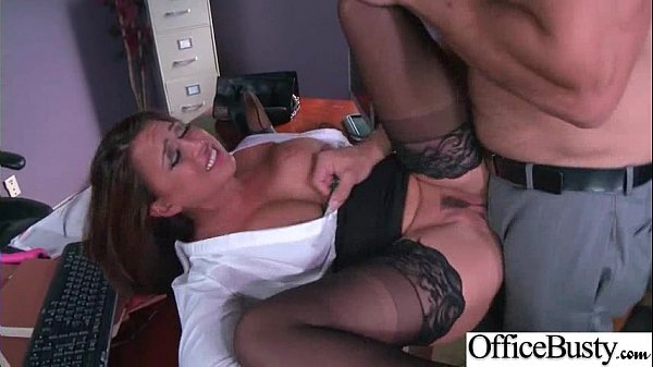 Hardcore Sex Tape In Office With Big Melon Tits Girl (Eva Angelina) video-28