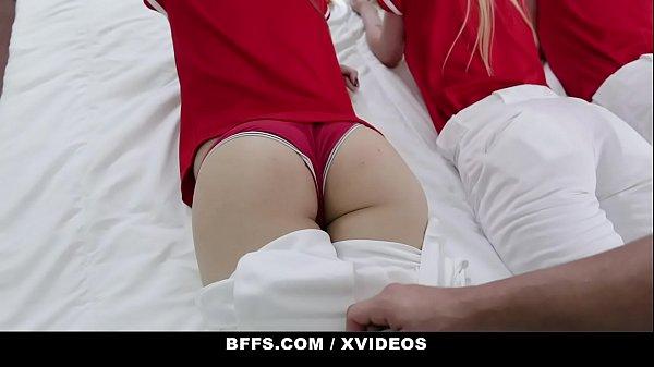 BFFS - Horny Fit Teens (Dixie Lynn) (Lola Leda) (Athena) Team Up On Coach's Big Cock