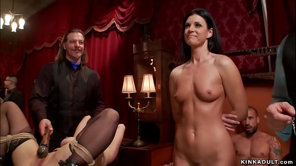 MILF and babe group fucked in bondage