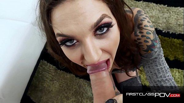 Stunning Tattooed Vixen Rocky Emerson Mouth Fucked