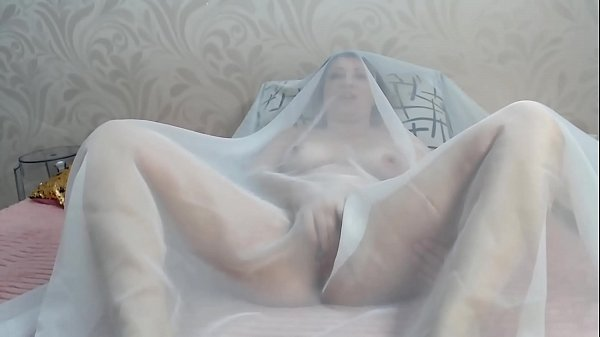 Horny milf Masturbates to orgasm covered in chiffon