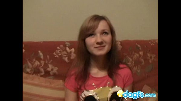 Russian teen learns how to give a blowjob