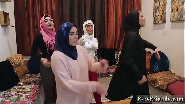 Teen reality first time Hot arab girls try four...