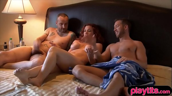 Amateur wife needs an extra cock so she tries threesome sex