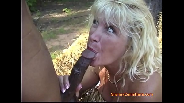 Our Slutty Granny Loves Interracial Sex and a BBC Thumb