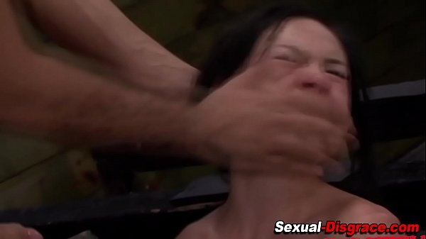 Bound submissive gets cum