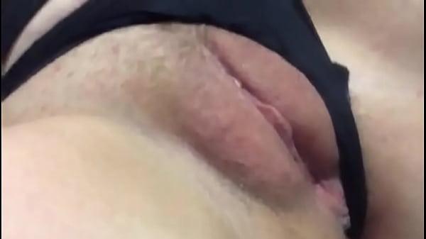 Blonde masturbates in bed